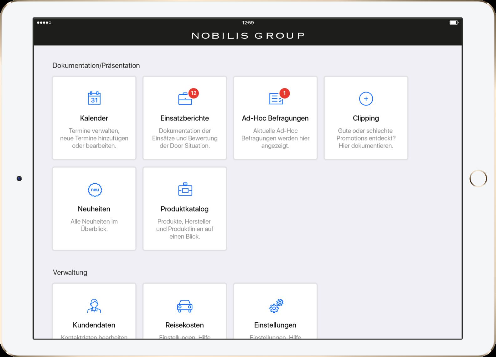 Nobilis eSales Vertriebs- & Außendienst-App